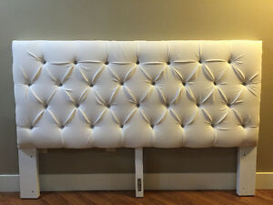 White Tufted Headboard(queen)