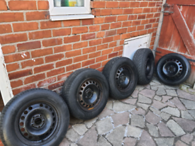 Full set of 15inch wheels with spacer wheel