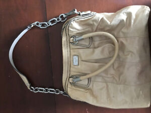 Baby Pink Shiny faux patent leather Coach Purse