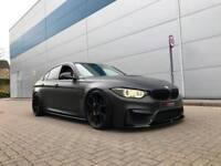 2016 16 reg BMW M3 3.0 DCT + SATIN MATT BLACK + MEGA SPEC + BODY KIT + CERAMICS