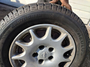 New set of Aeolus winter tires and rims for sale!