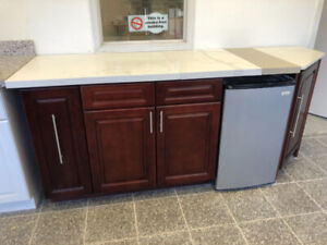 "79 1/2"" Kitchen cabinet showroom display for sale"