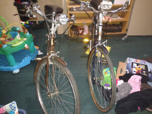 Pair of classic Raleigh bikes