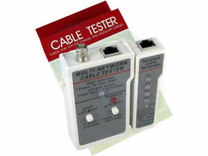 Multifunctional Network Cable Tester for LAN RJ45 and BNC Cables