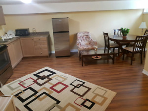 Extremely clean renovated furnished 2 bedroom basement apartment