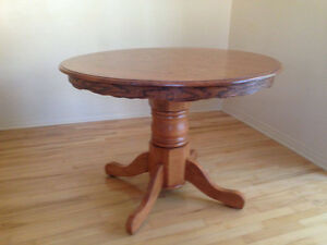 Refinished Round Solid Oak dining table