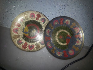 Decorative brass wall plates