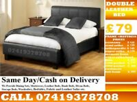Brand New Double LEATHER Base FRAME MEMOREY Foam Bedding