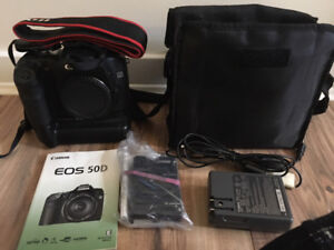 Canon 50D (Body Only) with Battery Grip