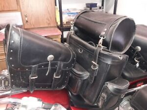 Leather Saddle Bags Never used!