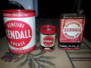 Kendall Motor Oil Cans