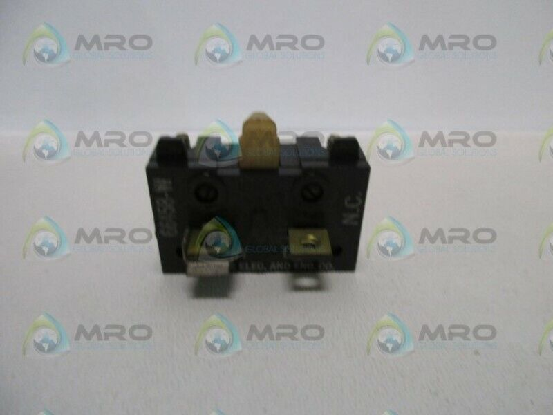 RELIANCE ELECTRIC 66458-W CONTACT BLOCK * USED *