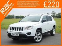 2011 Jeep Compass 2.2 CRD Turbo Diesel Limited 4x4 4WD 6 Speed Sat Nav Bluetooth