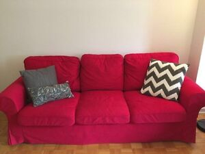 Ikea Ektorp Red 3 Seat Couch