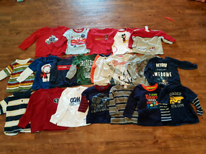 Long sleeve boy shirts size 6 months up to 24 months