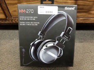 iSound HM-270 Stereo Headphones (Brand New)