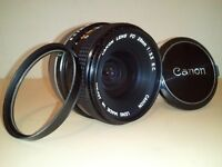 Canon 28mm f/3.5 Wide Angle FD lens