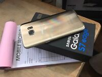 Samsung galaxy s7 edge Gold unlocked with warranty