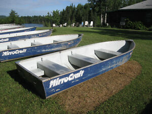 Two-14' Deep & Wide Resort Boats-Five 12' Aluminum Boats