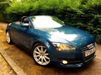**IMMACULATE** 2008 AUDI TT 2.0 TFSI PETROL 200 BHP MANUAL CONVERTIBLE BLUE