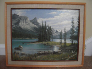 Painting of Rocky Mountain Landscape