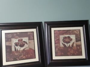 """Two Framed Pictures 21"""" Square, Sold as Pair. $30.00 Firm/Pair."""