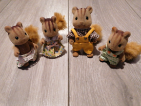Sylvanian families-squirrel family x 4