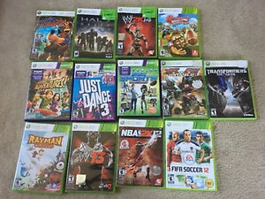 13-GAME BUNDLE FOR X-BOX 360