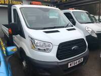 2014 64 FORD TRANSIT XLWB DROPSIDE 125PSI / LOW MILES / FSH / 14FT BED
