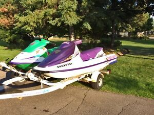 SEA DOO GTS & SEA DOO XP with Trailer