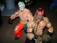 TWO LARGE WWE WRESTLING FIGURES