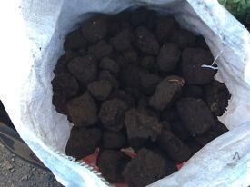 Seasoned logs, Peat and Kindling bundle