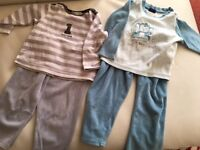 2 baby velour ( very warm) pajamas - 18m-24m