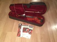 """16.5"""" solid wood Viola with case"""
