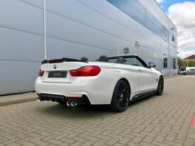2015 64 BMW 420d M Sport Auto Convertible + WHITE + M Performance Styling Kit