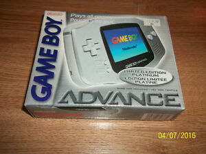 Boxed Limited Edition Platinum Game Boy Advanced!