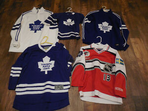 5 assorted NHL Toronto Maple Leafs hockey jerseys