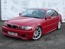 2005 BMW 3 SERIES 318CI M SPORT COUPE IN RARE IMOLA RED WITH BLACK SPORTS HEATE