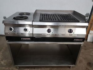 Charbroiler and Two Open Burner Electric Broilers marque Garlan
