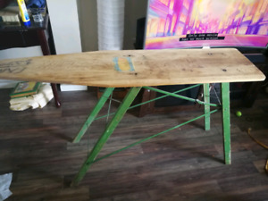 Neat old wooden ironing board