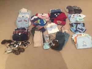Boys Clothes: 0-3 months old lot (61 items)