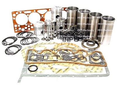 Engine Overhaul Kit With Valve Train Kit Fits Massey Ferguson Fe35 835 Tractors