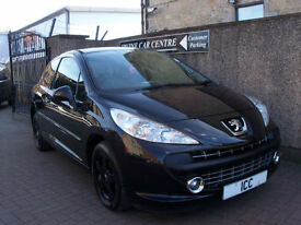 08 08 PEUGEOT 207 1.4 SPORT 3DR BLACK ALLOYS AIRCON 1 YEARS MOT SPORTS SEATS