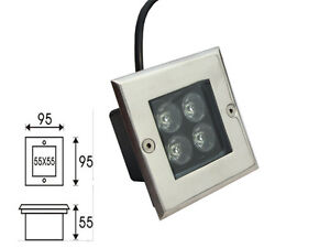 4w spot enterre led lampe encastrable exterieur jardin for Lampe exterieur encastrable