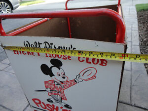Vintage 1950's Mickey Mouse Club Push' Em Car In excellent Shape Kitchener / Waterloo Kitchener Area image 8