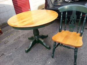 Solid wood pine kitchen table and chairs