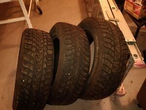 Three 195/R65/15 Imperial Eco-North Winter Tires