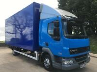 2012 12 DAF LF 45.160 EEV sleeper cab, 20ft6 box, underslung push out tail-lift