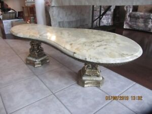 Vintage Marble Coffee Table and End Tables