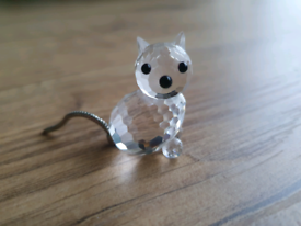 RARE Retired Swarovski Crystal Mini Cat Sitting 010011